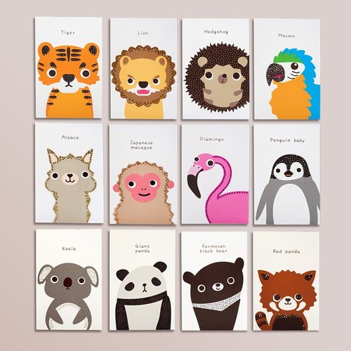 [] GFSD Rhinestone Collectibles - Hand animal universal card
