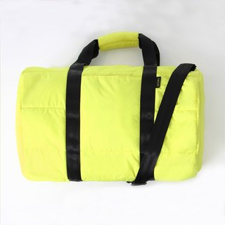 Cylinder backpack. ╳ yellow black
