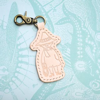 MOOMIN x Hong Kong Leather Sledge key ring natural material package officially authorized Akin