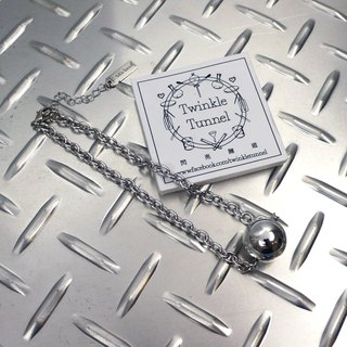 Plating silver ball necklace