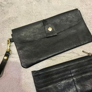 Sienna leather wallet with long wallet