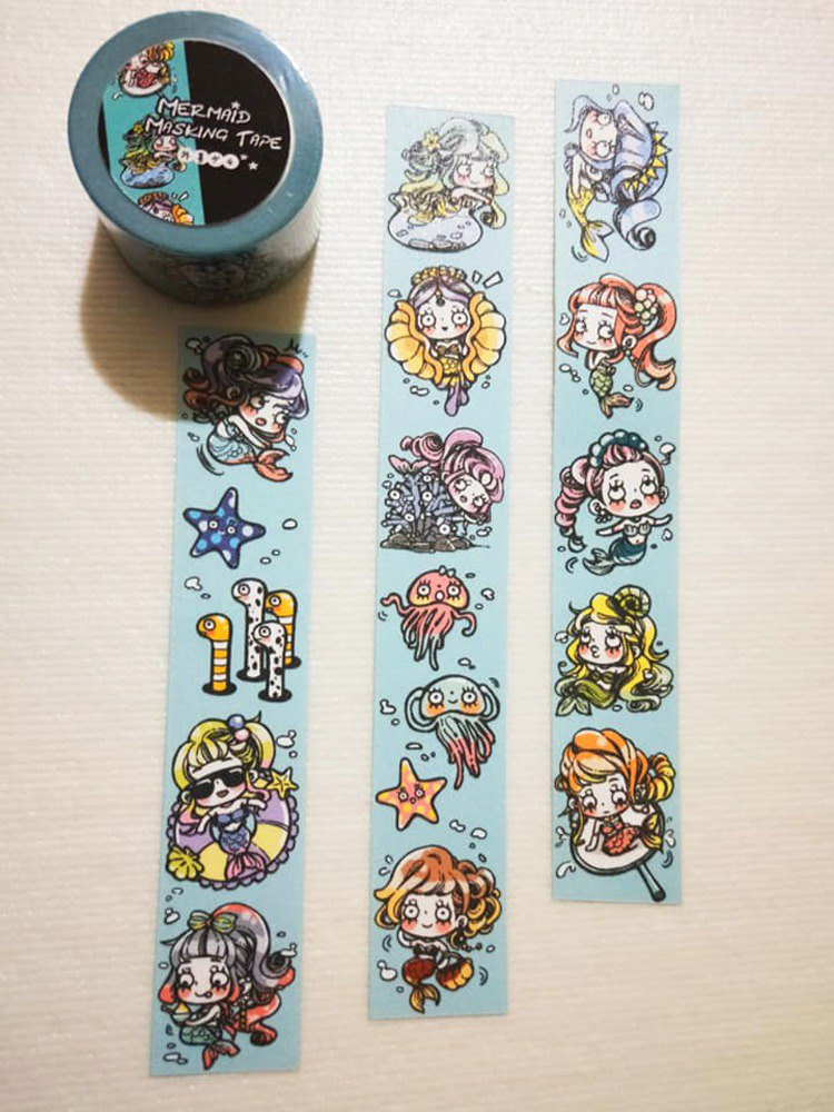 Limited Edition - Little Mermaid 2.5cm Paper Tape