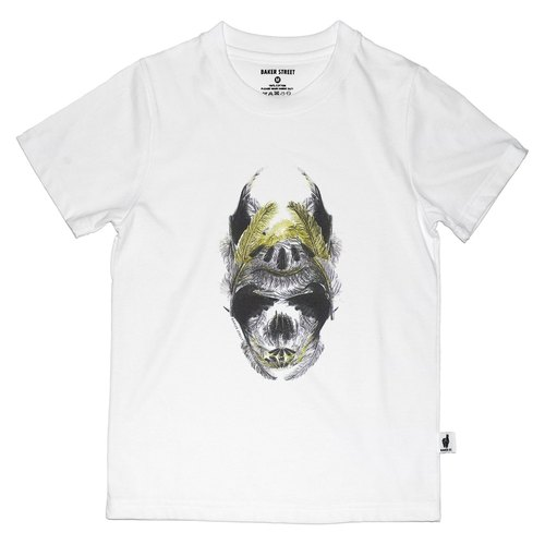 British Fashion Brand [Baker Street] Golden Feather Skull Printed T-shirt for Kids
