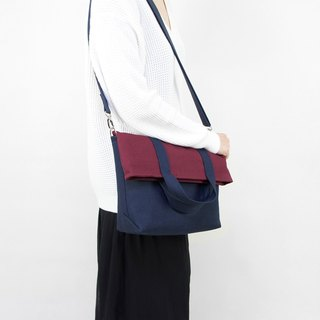 Large Fold-over Messenger Bag in Canvas/Unisex/Up to A4/Available in 4 colors