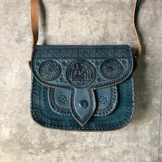 Indigo blue camel bag