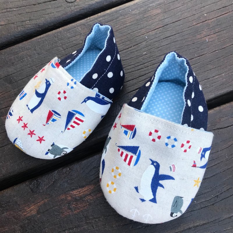 Cute little penguin toddler shoes