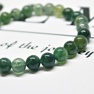 Classic Style_ natural stone bracelet _ green light
