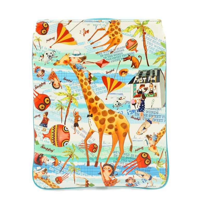 Designer  Sunshine and Beach Series Cute Art Design  Printed Apple Ipad Bag Case