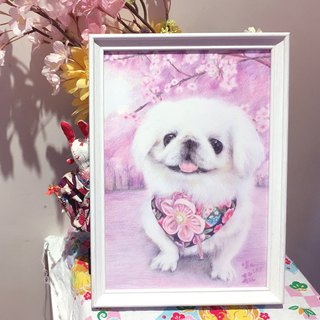 Pet cat dog portrait custom custom professional painting service