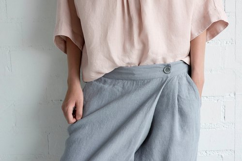 Linen Pants Motumo – 17K1 / Handmade loose linen pants / Washed linen pants