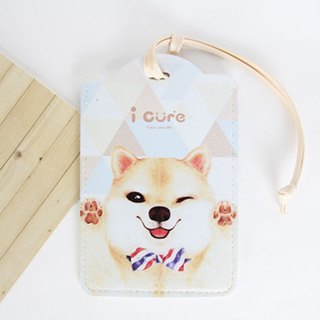 i card universal card set-H5. bow tie Shiba Inu dog - luggage tag certificate tag