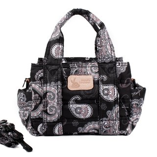 Oblique back dual-use [small size high-capacity mini three-tier Mini Pack - Paisley PLUS