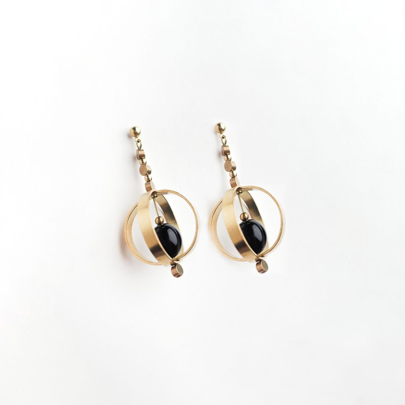髮辮耳環 (黑) - Plait Earrings (black)