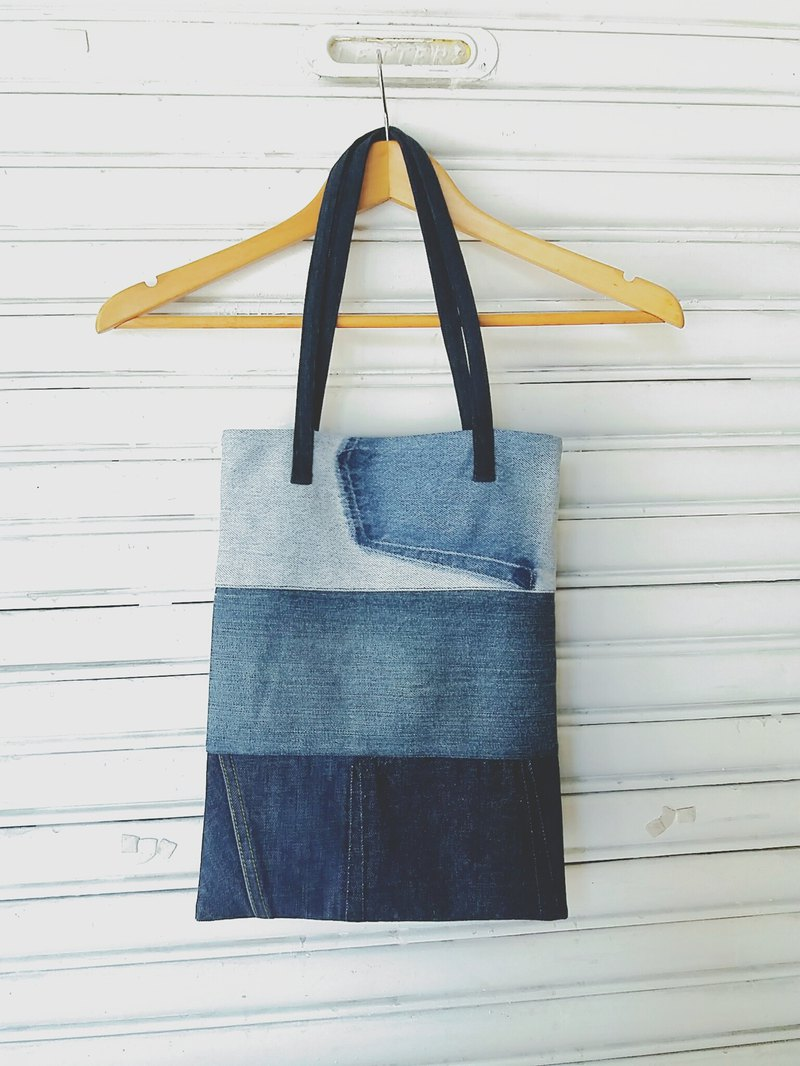 "Upcycling ""Triple"" Denim Tote Bag"