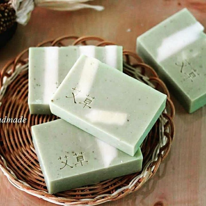 【Weila Handmade Soap】 peaceful wormwood soap │ exchange gift │ wormwood water into the soap │ in the dry muscle