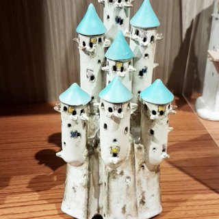 Miniature Cliff White House Music Box 【White House Ceramics】