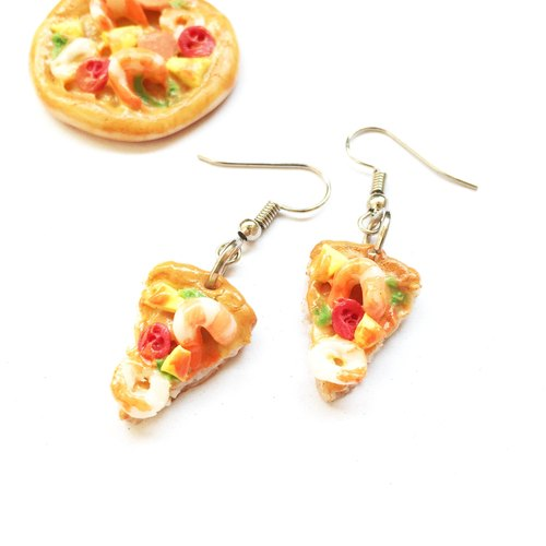 Earrings Seafood Pizza 3.
