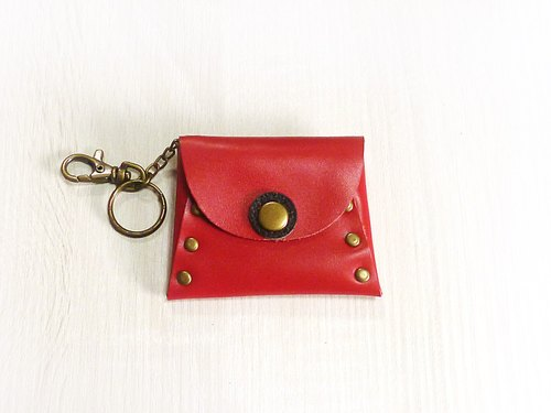 POPO│ fashion red │ cow leather. Keys. Purse │