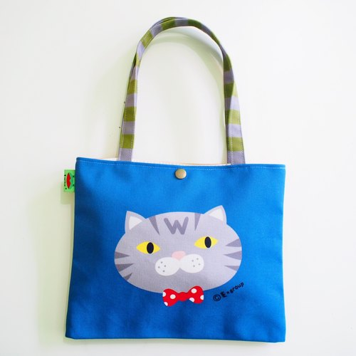 E * group new shoulder bags double-sided design (cato) canvas bag canvas bag cat frog