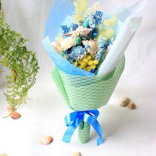 Ocean Blessing Blue Seashells Ocean Graduation Dry Bouquet Graduation Gift Graduation Bouquet