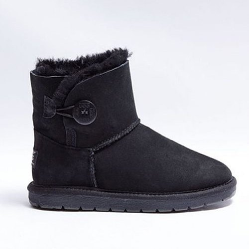 UGG Boots Shearers Australia  Single Button Black