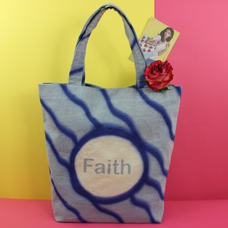 Faith in Yourself Denim Tote Bag