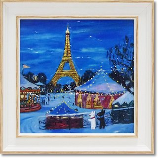 """Lisa and Caspian"" mini-box copy painting - winter fun park"