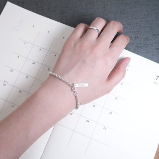 Classic Round MEMO Bracelet - 925 Sterling Silver Customized Lettering Bracelet