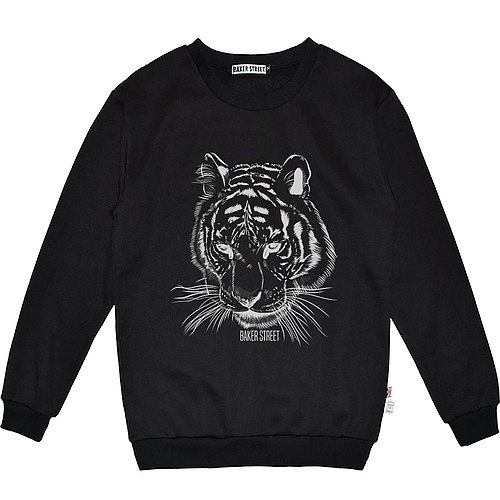 British Fashion Brand [Baker Street] Tiger Printed Sweater