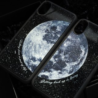 iPhone X / 8 Plus / 7 Plus  黑膠唱片手機殼 藍月 Blue Moon