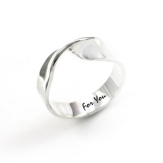 Custom Mobius(L) Lettering Sterling Silver Ring-ART64
