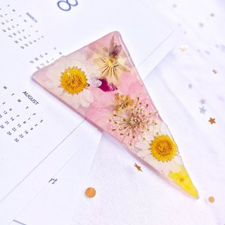 Handmade Real flowers triangle hairpin