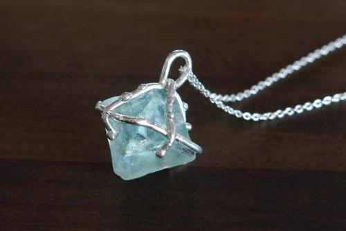 1 point thing ★ fluorite necklace (green * sv)