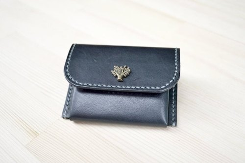 Leather leather leather tannage hand for zero purse coin pocket can be free to play leisure card