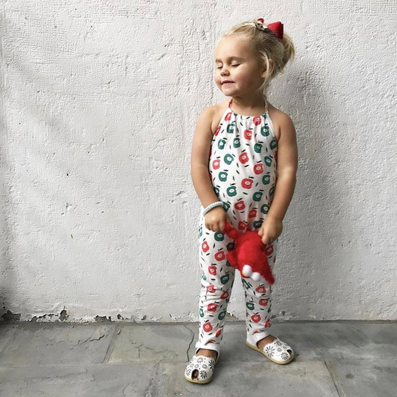American Babysoy-Organic Cotton Strap Backless Jumpsuit_Apple
