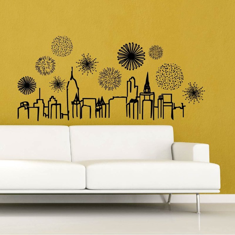 """Smart Design"" Creative Seamless wall stickers gorgeous night ◆ 8 color options"