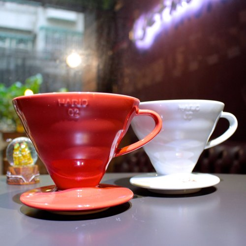 [Hand instruments] HARIO red Japanese Arita ceramic hand punch filter cup red (VDC-02R)