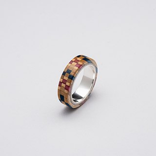 Send wood style ring R0406004