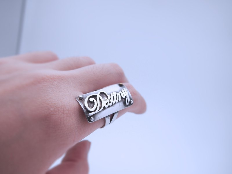 Destiny fate sterling silver ring