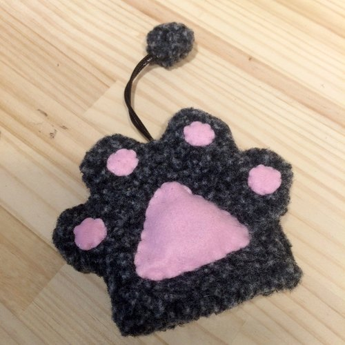 RABBIT LULU [cat] palm Wallets creative market Hands special kitty cat slave (dark gray)