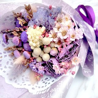 LOVE Purple Love Korean Multilayer Dry Bouquet - With Card