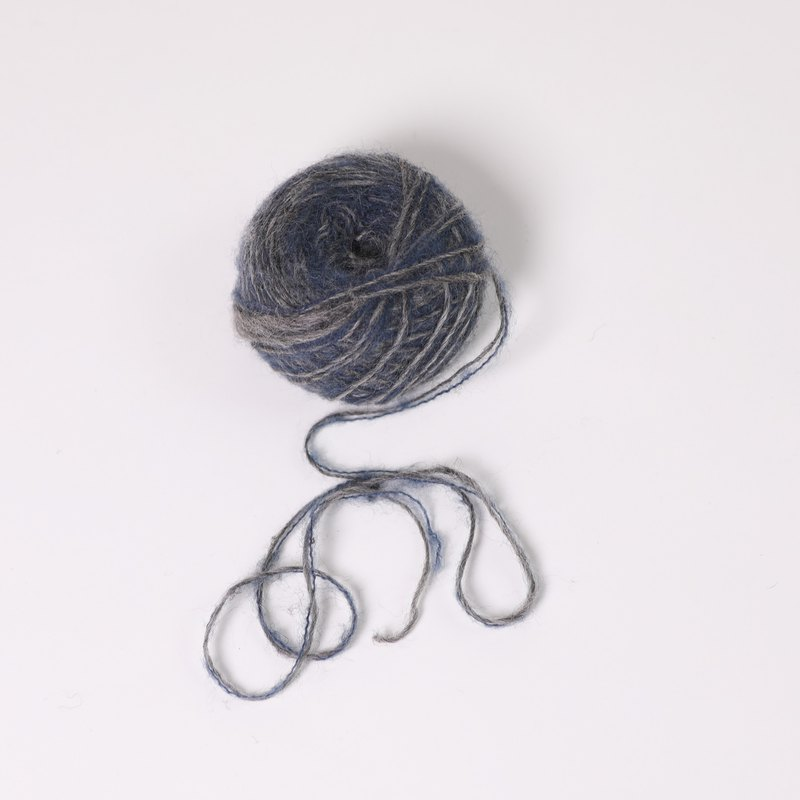 mohair yarn-fog gray blue-fair trade