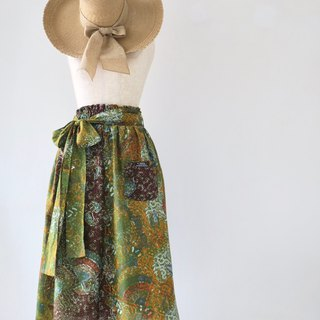 Long Skirt with Sash Ribbon Indonesian Fabric