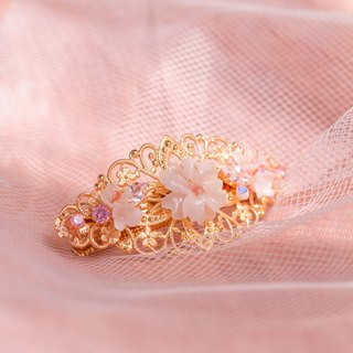 BLOSSOM Sakura Rose-gold Plated Hair Clip (L)