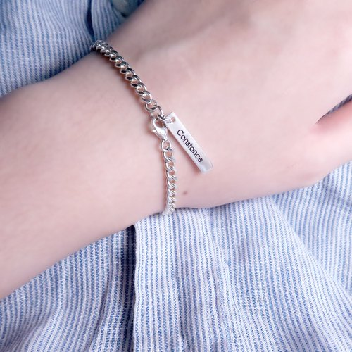 Corner Rope MEMO Bracelet - 925 Sterling Silver Customized Bracelet
