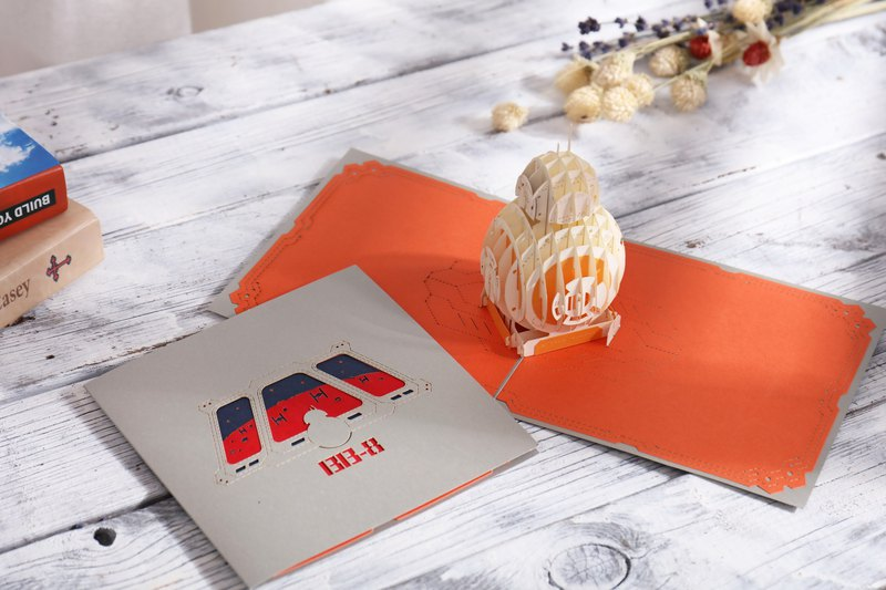 Three-dimensional greeting card - Robot BB8