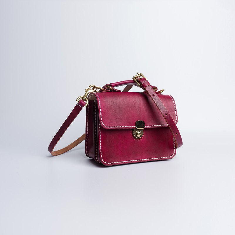 [Cutline] Dulles handmade leather small briefcase handbags shoulder Messenger bag small square bag clutch bag