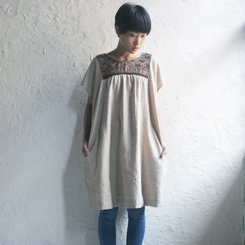 Omake Remake Lu ethnic embroidery on both sides wear dress (No.1)