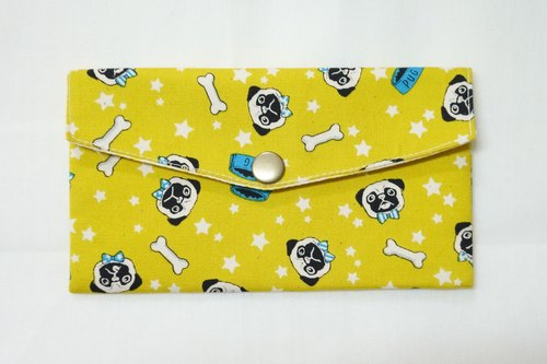 Play cloth hand made. French Bulldog (yellow) red envelopes passbook Pouch
