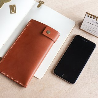 Shekinah handmade leather - Iphone I7/8 plus leather case 5.5吋
